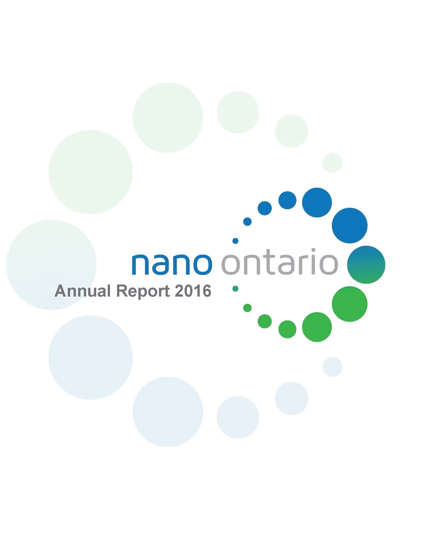 NanoOntario Annual Report 2018 (Year 2017)