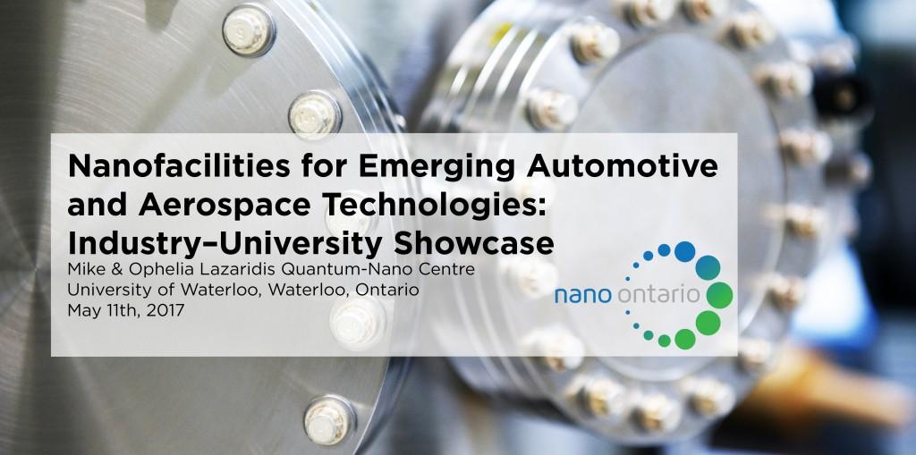 Banner for NanoOntario Industry-University Showcase